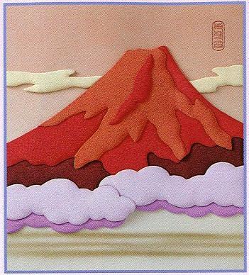 東芸押し絵キット H8902「赤富士」