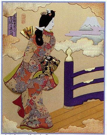 東芸押し絵キット S8829「見返り美人図」(6号)