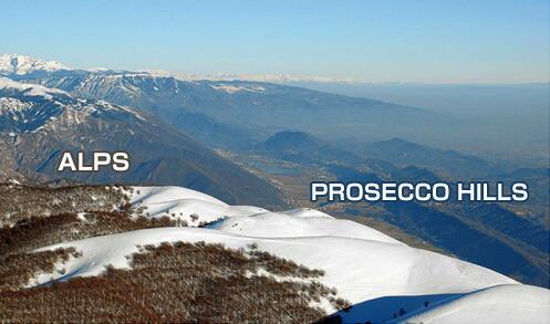 プロセッコの地形