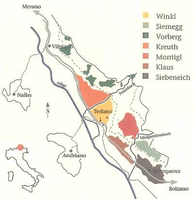 テルラーノの地図