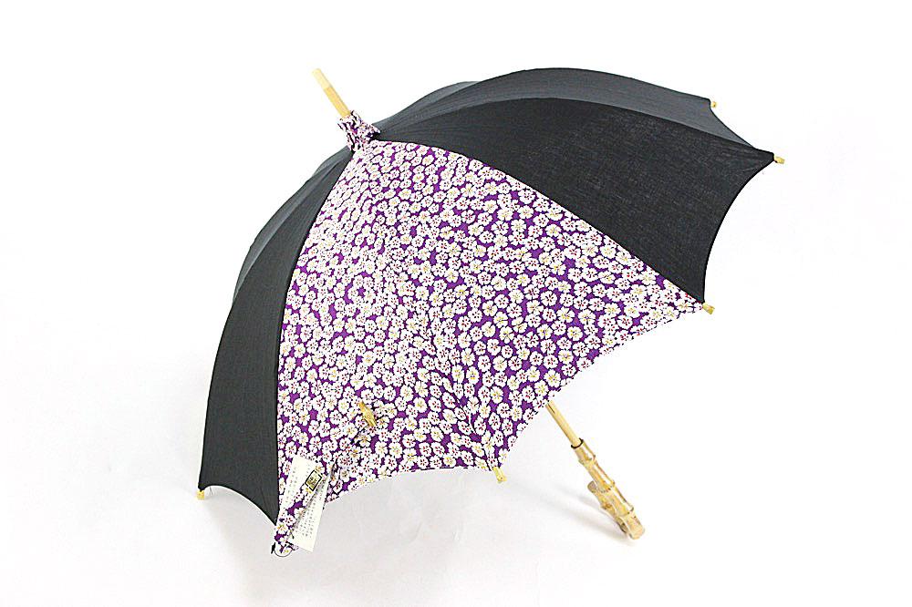 黒×紫×白(花)