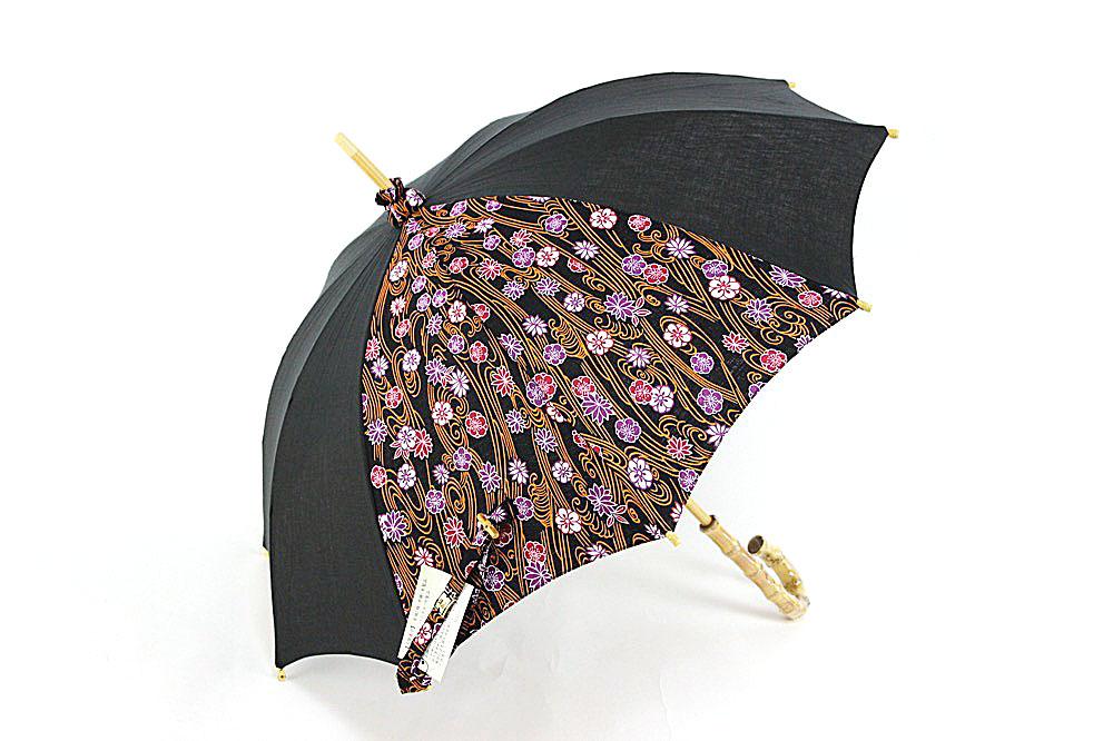 黒×紫×オレンジ(花)