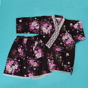 With a lace black Orchid blue of summer Fireworks yukata casual non