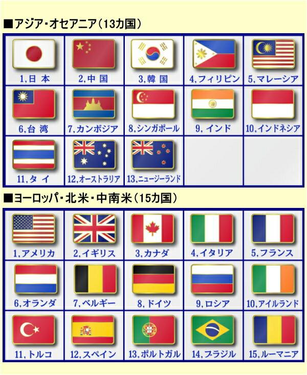国旗ピンバッジ