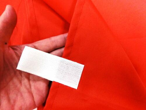 トスパ紅白幕 乳切れは白色
