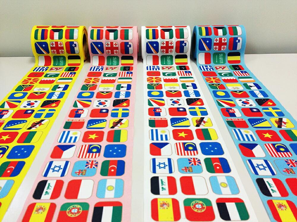 世界の国旗 ゴールテープ