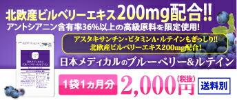ブルーベリー&ルテイン 1袋1ヵ月分 2,000円(税抜)