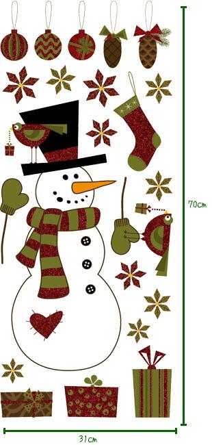粘纸/室内装饰封条圣诞节系列窗供窗使用的的室内装饰
