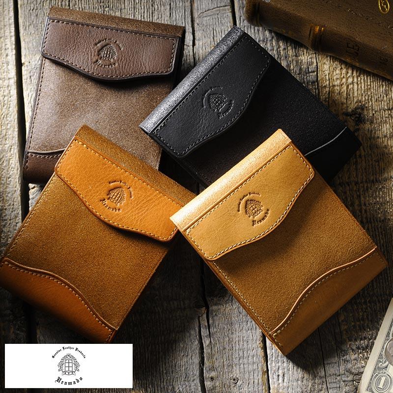 スナップ付き二つ折り財布 Snap Wallet