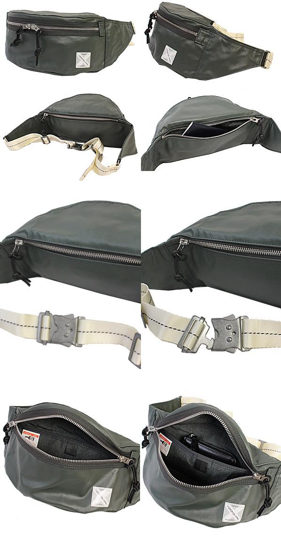 ラゲッジレーベル ライナーネオ ウエストバッグ ボディバッグはファスナーポケットに小物類を収納可能