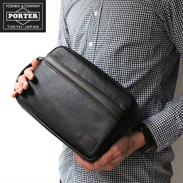 PORTER BLEND ポーター ブレンド ポーチ セカンドバッグ ビジネス 本革 TOP