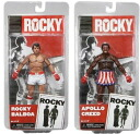NECA Rocky series 1/ Rocky balboa (two clean ver)& Apollo creed (damage ver) set /)