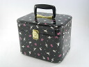 Cosmetic box ballerina 26cm side black makeup case