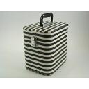 Make box cosmetics box horizontal stripe 23cmLL high black makeup case