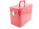 Make box dot pattern 30cm red makeup case make box