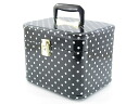 Made in Japan ヨコブラック cosmetic case, introducing popular / makeup box dot 26 cm