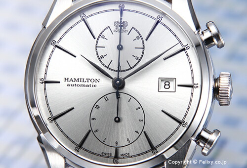 【HAMILTON】ハミルトン 腕時計 Spirit Of Liberty (スピリット オブ リバティ) シルバー/ブラックレザーストラップ H32416781