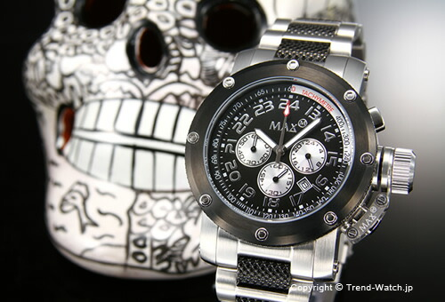 MAX XL WATCHES   Chronograph 47mm () SS(IP)/ 5-MAX483