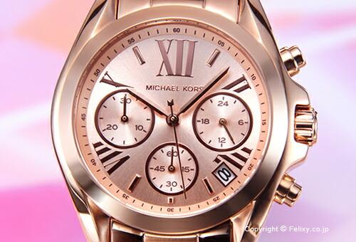 ��MICHAEL KORS�ۥޥ����륳���� �ӻ��� Bradshaw Chronograph Mini (�֥�åɥ��硼 ����Υ���� �ߥ�) �?��������� MK5799