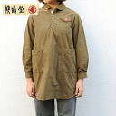 Beautiful weather temple pullover round collar shirt-dress (23OP-06)30%OFF!!
