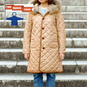 Quilted long coat with favored THE SMOCK SHOP (8405 PL) 10 Sierra