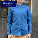 Gymphlex button down denim long sleeve shirt Lady's ( 2014 spring/summer) 30 Sierra