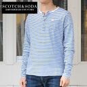 SCOTCH &SODA borderhenrynecklongsleeb T shirt (SC50004-31)