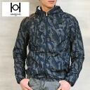 HAMAKI-HO hooded Camo pattern windbreaker