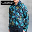 SCOTCH &SODA hibiscus print hooded jacket 30 Sierra