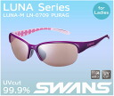 Swans sports sunglasses SWANS sunglasses LN-0709 PURAG ladies who like compact mirror lens