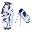 AKIRA Akira-2015_9-self golf bag WHITE * BLUE price ¥ 35000 + tax