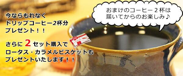 ドリップコーヒー・バリアラビカ神山2杯分プレゼント!