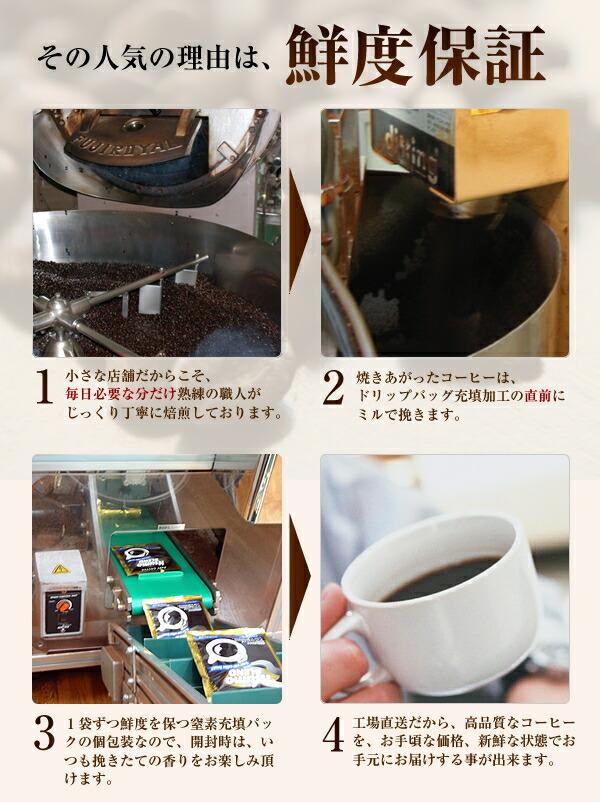 ドリップコーヒーが人気の理由は鮮度保証です!