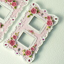Solid rose pink rose ( * ^ _ ^ * ) switch plate (switch cover ) 1 hole, 2 holes