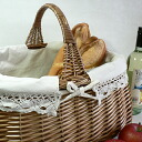 Parisienne one handle baskets with canvas 43 × 30 x h35 (including handle)