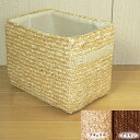 Available in 2 colors! color box straw basket half [natural Brown] 18 x 26 x h 20