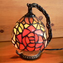 Stained glass lamp hanging type 1 arm 2 color rose (Fairy Queen)15.5 × h19
