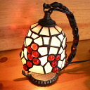 Stained glass lamp hanging type 1 arm the grapes (grapes) 14 x h19