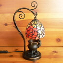 Stained glass lamp hanging type 1 arm 2 color rose ( regatta ) kitten (= ^-^ =) objects with medium-size 20 × h35