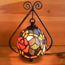 Stained glass lamp small hanging type 2 arm Camellia 19 × h24