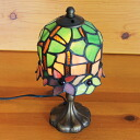 Stained glass lamp flowers small 11 x h24