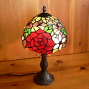 Stained glass lamp roses flowers ( ballerina ) medium-sized 20 x h38