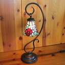Hanging stained ramp 1 arm floral stained glass lamp 22 x h57