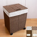 Paper laundry box L with casters [Brown and beige: 35 x 30 x h49 (including casters ) gkg1167