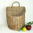 28*24* dish simmered in willow wall basket large size h28 (to a handle 36cm)