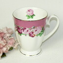 Sconce cup to give glory to with the Rose bouquet of five colors of bone china (pink)