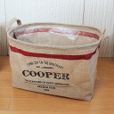 """Jute news paper box for the color box storage box oval type """"COOPER"""" ( newspaper Stocker ) 32 × 22 × h24"""
