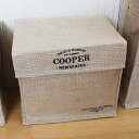 "Jute news paper box lid storage box ""COOPER"" ( newspaper Stocker ) 35 × 25 × h28"