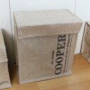 """Jute with a lid storage box d link beer cans Stocker """"COOPER"""" portrait type 37 × 21 × h40"""