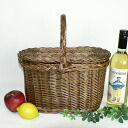 It is with oval type picnic basket (*^_^*) <cover>32*19*32 (to a handle)